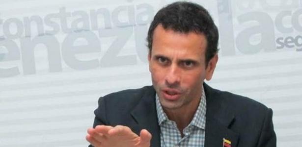 Henrique Capriles, ex-candidato à Presidência e um dos líderes da oposição