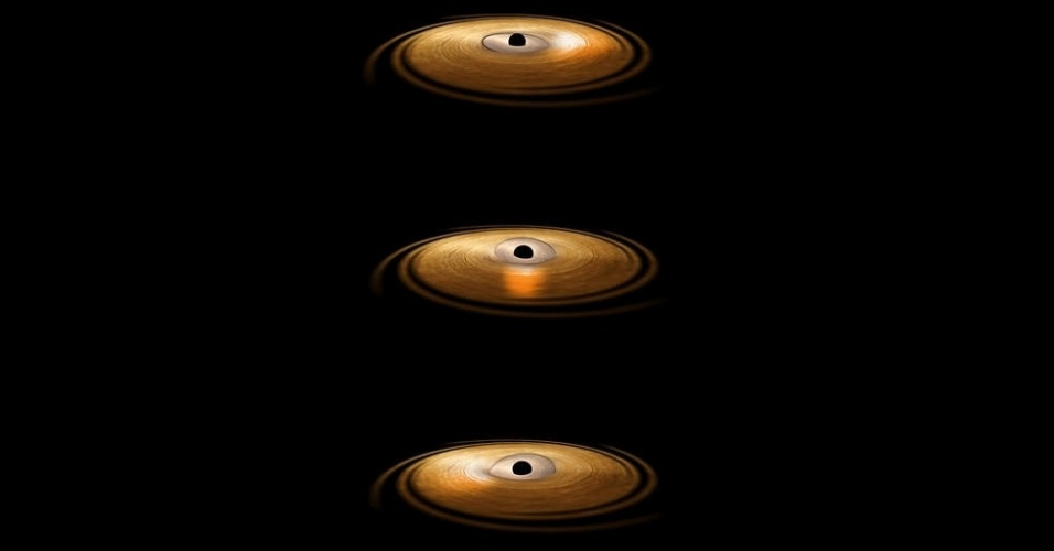 FLAGRA INÉDITO EM BURACO NEGRO - A Agência Espacial Europeia (ESA) conseguiu provar a existência de um vórtice gravitacional em um buraco negro com a ajuda de um observatório de raio-x em órbita. A descoberta elucida um mistério que persegue astrônomos há mais de 30 anos e ajudará a mapear matérias bem próximas de buracos negros, além de abrir portas a futuras investigações da relatividade geral de Einstein. O achado ocorreu com a observação de que a matéria que cai em um buraco se aquece enquanto se aproxima do fim e atinge milhões de graus quando está perto de sumir para sempre - nesta temperatura, emite brilho de raio-x no Espaço
