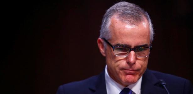 O diretor interino do FBI, Andrew McCabe, durante audiência na comissão de inteligência do Senado, em Washington, EUA