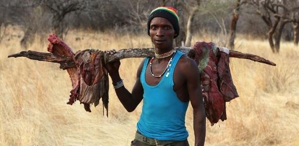 Os hábitos de alimentação de uma tribo africana