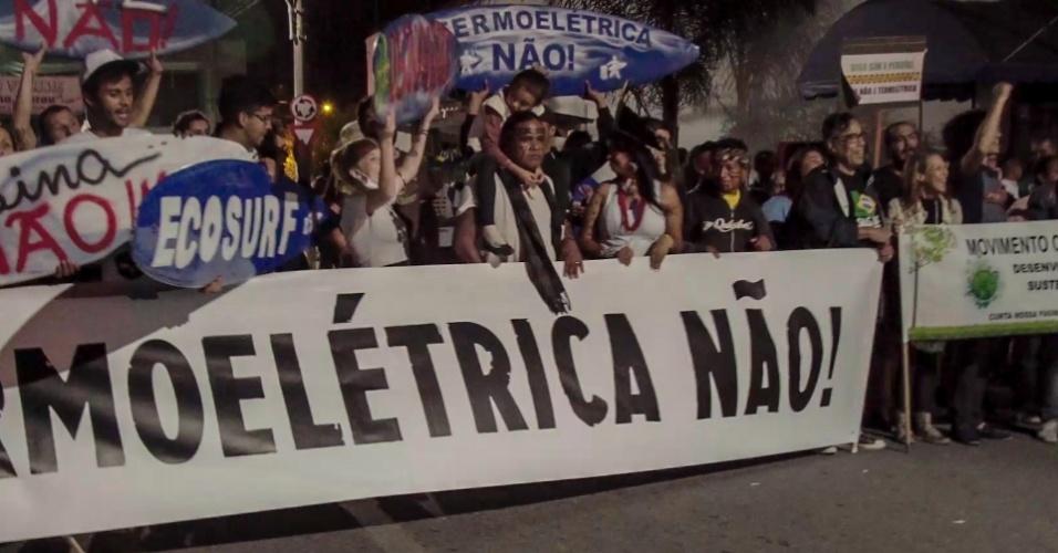Indígenas e moradores de Peruíbe (SP) protestam contra termelétrica em audiência pública em setembro