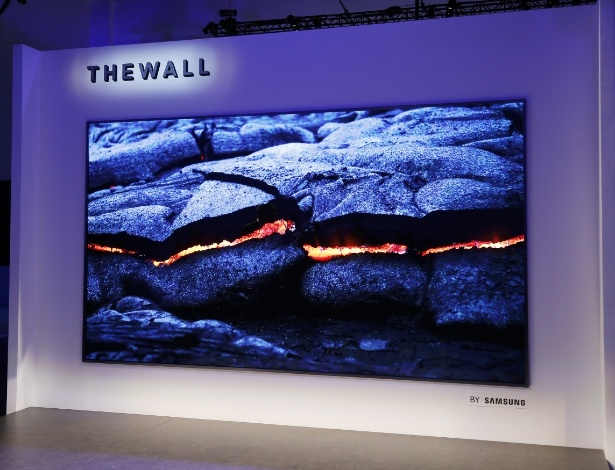 """Televisão do futuro? """"The Wall"""" é uma tela de 146 polegadas capaz de recriar vários tamanhos e resoluções diferentes"""