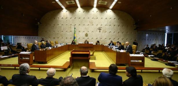 Plenário do STF, em Brasília, durante o julgamento do habeas corpus preventivo de Lula