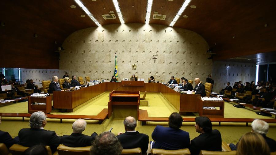 4.abr.2018 - Vista geral do plenário do STF durante julgamento de habeas corpus de Lula - Dida Sampaio/Estadão Conteúdo