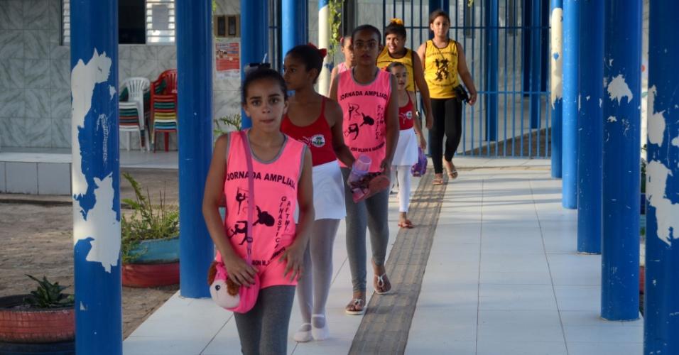 3.set.2018 - Alunas na Escola José Wilson, na zona rural de Areias, em Coruripe (AL)