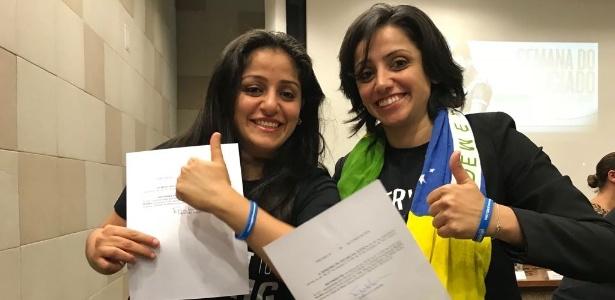 Maha Mamo (dir.) e sua irmã, Souad Mamo (esq.) foram as primeiras pessoas a serem reconhecidas como apátridas no Brasil. Agora, querem se naturalizar como brasileiras e, para isso, só lhes falta o Celpe-Bras
