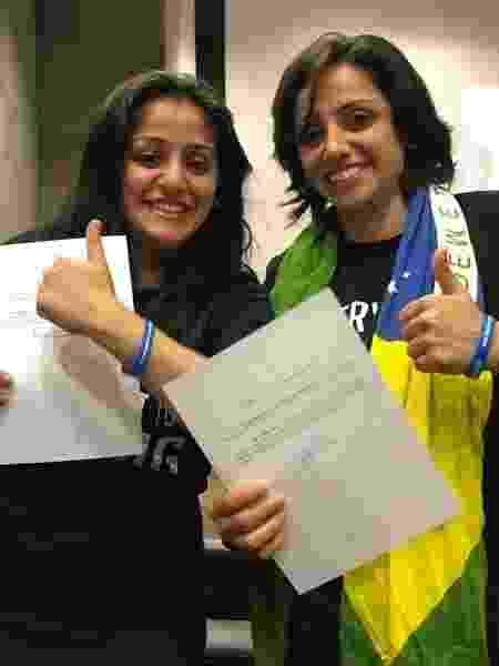 Maha Mamo (dir.) e sua irmã, Souad Mamo (esq.) conseguiram a cidadania brasileira - Victoria Hugueney / ACNUR - Victoria Hugueney / ACNUR