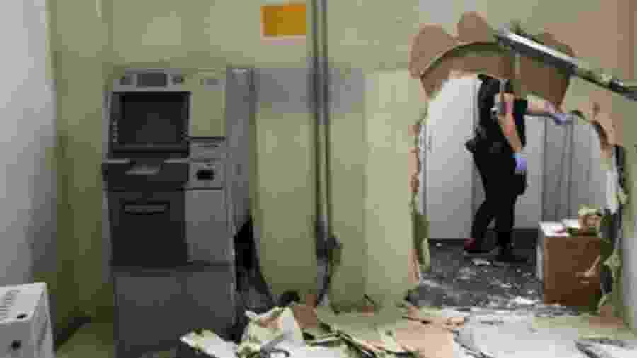 Caixa eletrônico foi roubado por criminosos de dentro da sede da TV Cultura, em São Paulo - 06.out.2019 - Divulgação/Polícia Civil