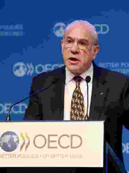 21.nov.2018 - O secretário-geral da Organização para Cooperação e Desenvolvimento Econômico (OCDE), Angel Gurría - Eric Piermont/AFP