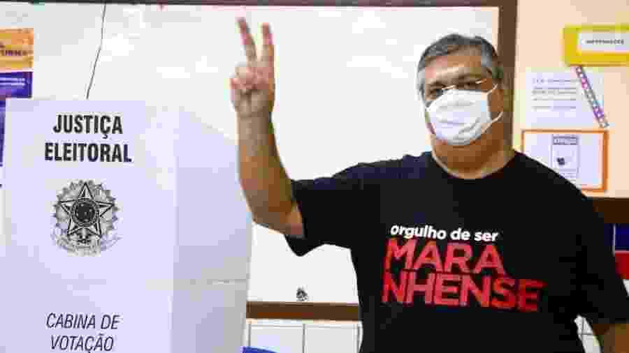Governador do Maranhão, Flávio Dino (PCdoB), vota no estado no primeiro turno das eleições municipais - Reprodução/Twitter/@FlavioDino