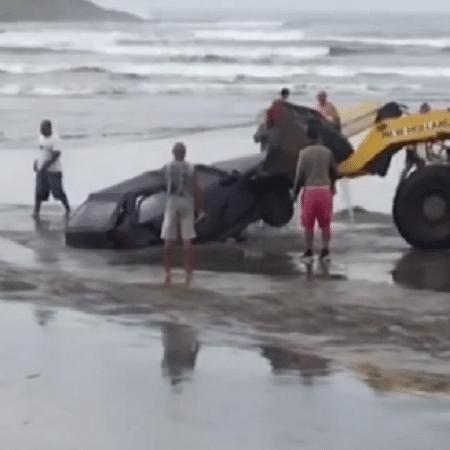 Morador de Itanhaém (SP) atola carro em praia - Reprodução