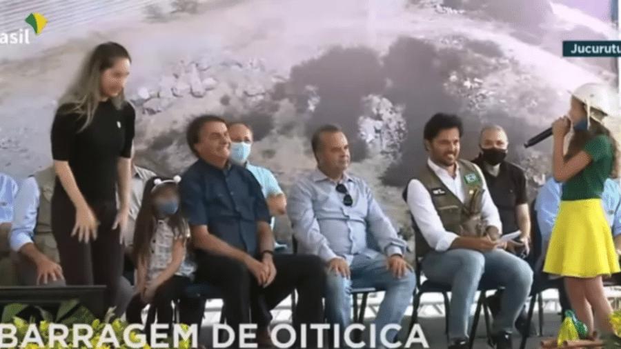 24 jun. 2021 - Presidente Jair Bolsonaro (sem partido) participa de evento em Jucurutu, no interior do RN - Reprodução/TV Brasil