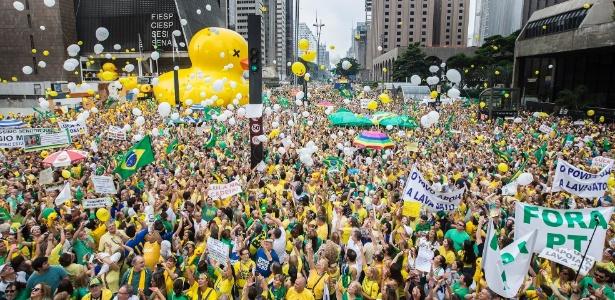 Brasil tem maior manifestação contra Dilma - Marlene Bergamo/Folhapress
