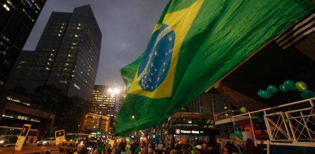 Em São Paulo, manifestantes comemoram afastamento de Dilma - Danilo Verpa/Folhapress