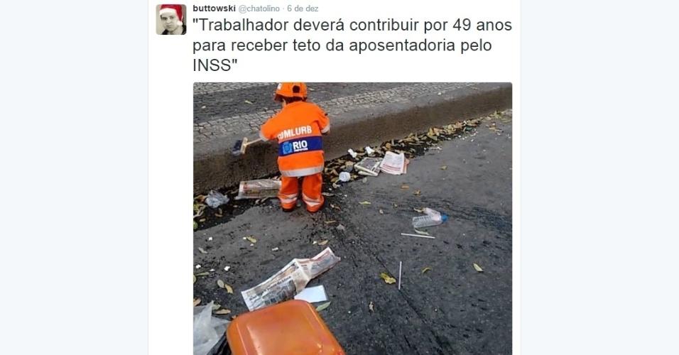 9.dez.2016 - Reforma da Previdência vira piada nas redes sociais