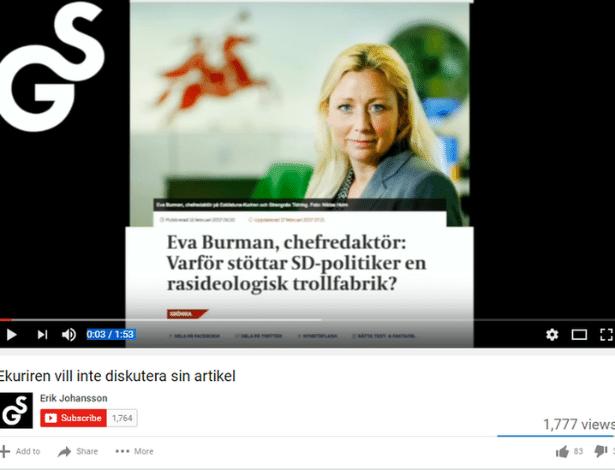 Conversas com jornalistas são editadas e publicadas no site Granskning Sverige