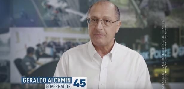 Geraldo Alckmin durante campanha eleitoral para governador de SP, em 2014