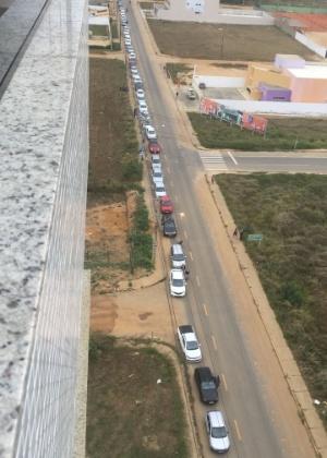 Posto antecipou venda de combustíveis e gerou fila de carros em Vitória da Conquista - Divulgação/Blog do Anderson
