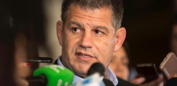 Gustavo Bebianno, presidente em exercício do PSL, concede entrevista no hospital