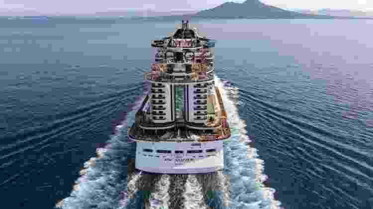 MSC Seaview, navio da MSC Cruzeiros de onde a mulher grávida foi retirada para dar à luz - Divulgação/MSC Cruzeiros