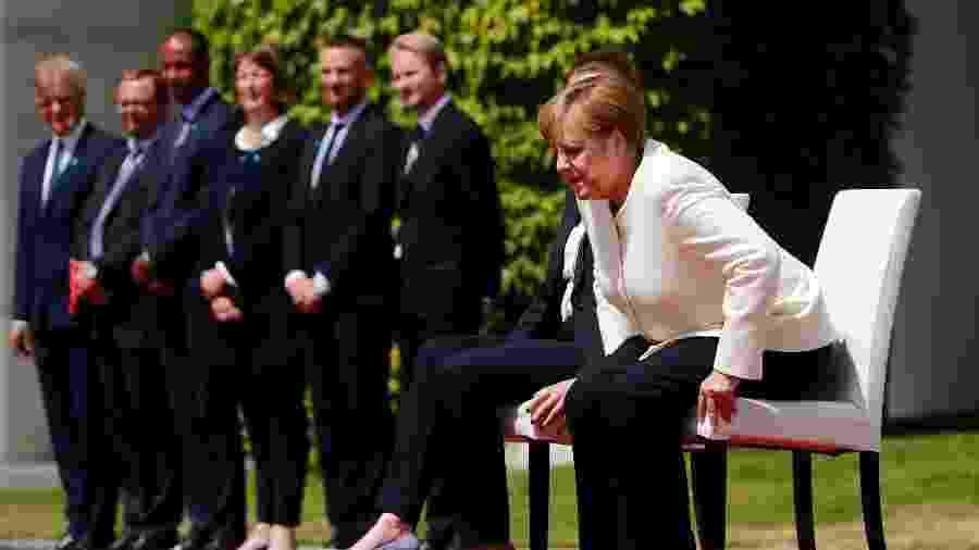 A chanceler alemã Angela Merkel recebe a primeira-ministra da Dinamarca Mette Frederiksen em Berlim - Reuters/Hannibal Hanschke