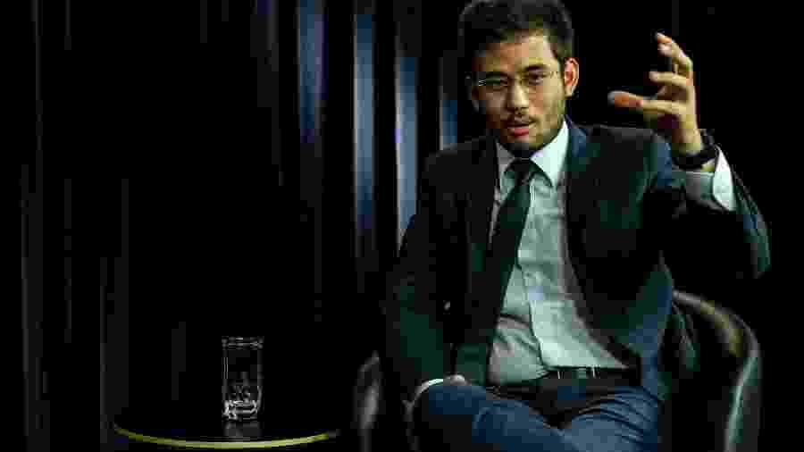 O deputado Federal, Kim Kataguiri (DEM-SP), durante entrevista exclusiva ao UOL e a Folha de S.Paulo - Kleyton Amorim/UOL