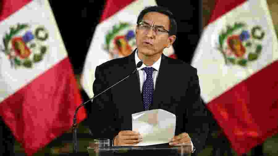 Presidente do Peru, Martín Vizcarra, criticou a arbitragem de Peru x Brasil - Andina/Xinhua