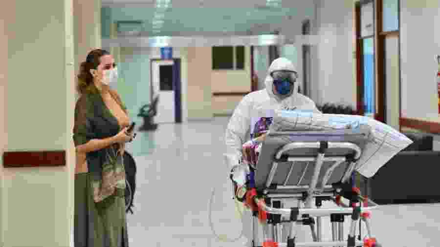 Hospital Nilton Lins, em Manaus, recebeu a primeira paciente no sábado (18) - Michell Melo/Governo do Amazonas