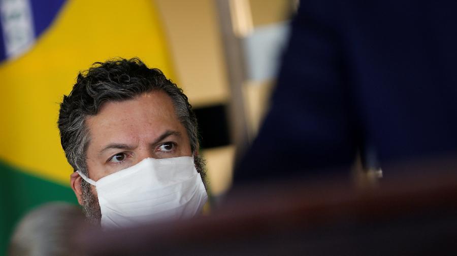 Ministro das Relações Exteriores, Ernesto Araújo, durante entrevista coletiva no Itamaraty, em Brasília - Reuters