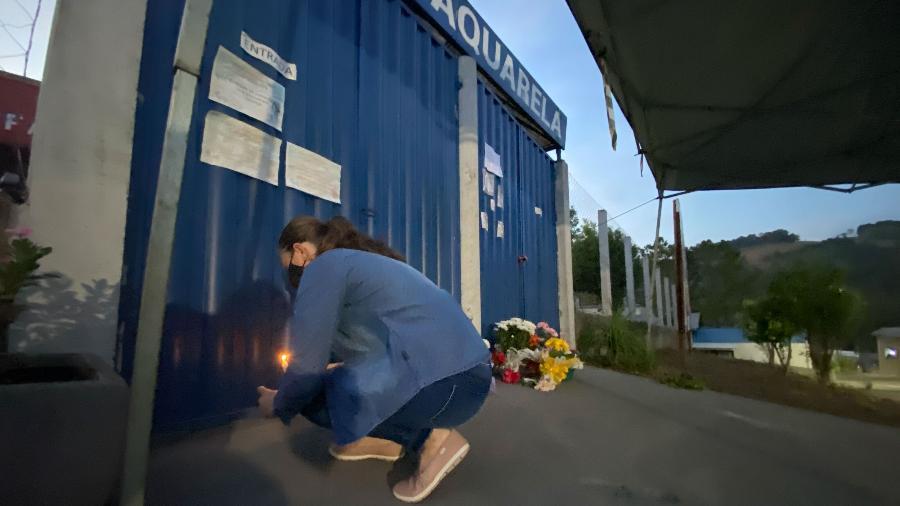 05.05.2021 - Velório das vítimas do ataque a creche em Saudades (SC) - WILLIAN RICARDO/ISHOOT/ESTADÃO CONTEÚDO
