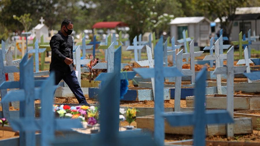 Veja a evolução das mortes pela covid-19 nos estados brasileiros nesta segunda-feira (17) - Bruno Kelly/Reuters