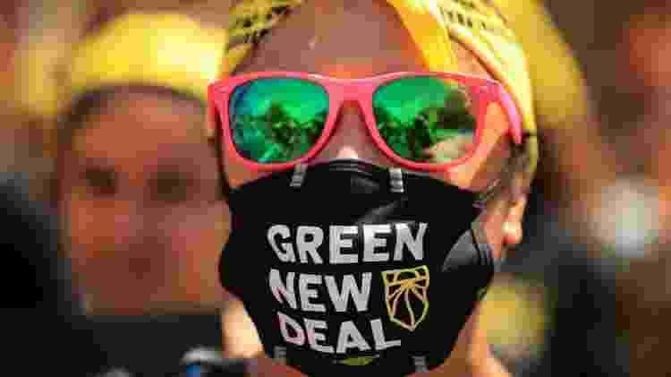 Nos Estados Unidos, parte do partido Democrata defende um 'Green New Deal': usar a transição para uma economia de baixo carbono para gerar empregos de qualidade - Getty Images - Getty Images