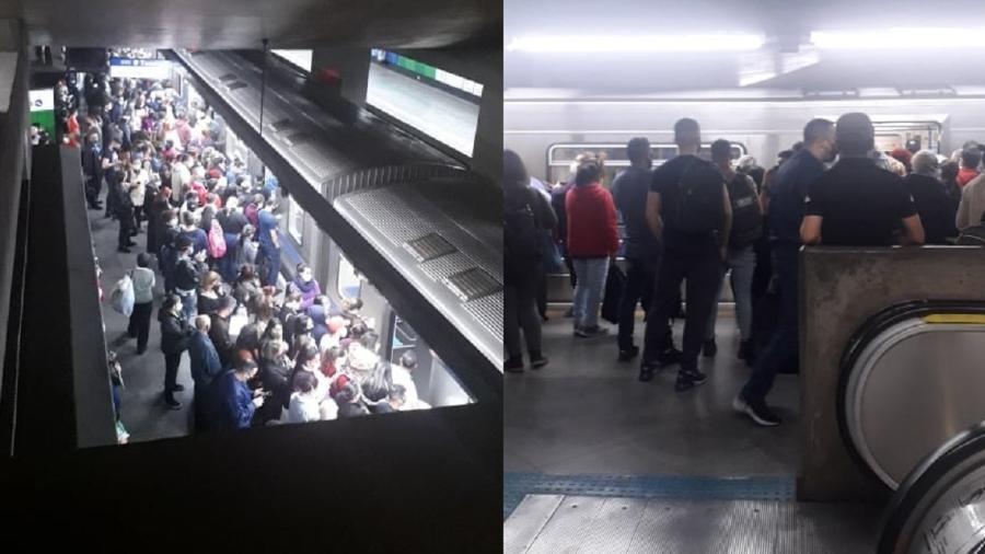 Metrô de SP tem aglomeração após falha técnica - Reprodução/Facebook São Paulo da Depressão
