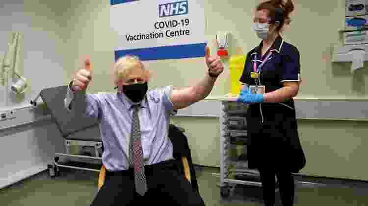 Boris Johnson recebeu a vacina pelo NHS, o sistema de saúde púbica do Reino Unido - REUTERS - REUTERS