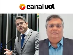 Pedro França/Senado e Reprodução/Canal UOL