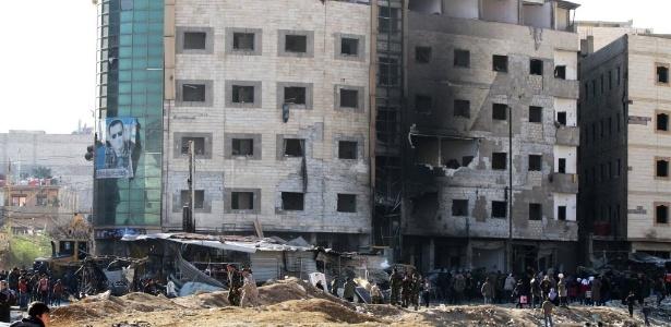Um triplo atentado terrorista deixou 110 feridos em Damasco, capital da Síria