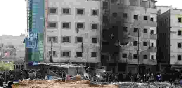 Um triplo atentado terrorista deixou 110 feridos em Damasco, capital da Síria - Louai Beshara/AFP