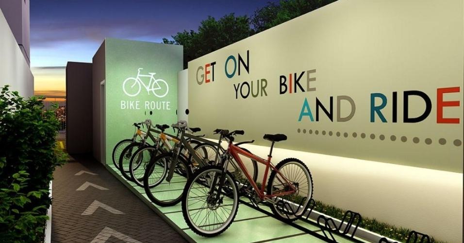 Bicicletário estará disponível aos moradores