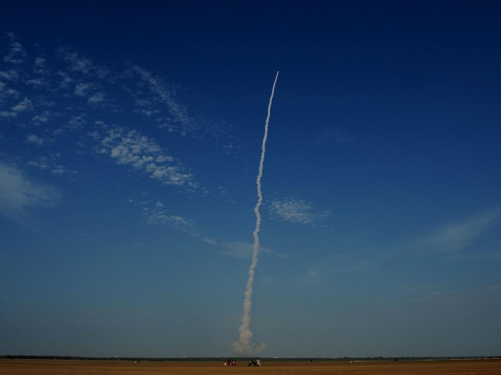 8.set.2016 - ÍNDIA EM ÓRBITA - O foguete GSLV-F05, da Organização de Pesquisa Espacial Indiana, teve sucesso e conseguiu colocar o satélite INSAT-3DR em órbita. Cientistas esperam que o satélite ajude a fornecer uma variedade de serviços meteorológicos para o país