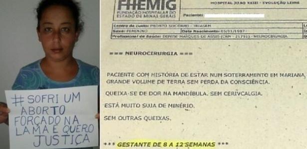 Priscila, que perdeu bebê enquanto era levada pela lama; boletim médico atesta gravidez