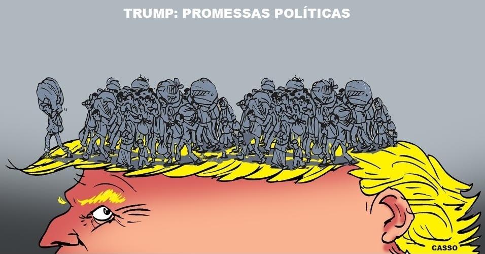 18.nov.2016 - Promessas de Trump são do tamanho de seu topete