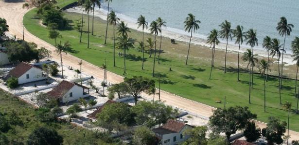 Área da Restinga da Marambaia, no Estado do Rio de Janeiro, sob controle da Marinha do Brasil, onde o presidente Michel Temer e sua família se hospedam para a virada de ano