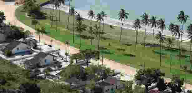 Área da Restinga da Marambaia, no Estado do Rio de Janeiro, sob controle da Marinha do Brasil, onde o presidente Michel Temer e sua família se hospedam para a virada de ano - A. Galante/Cadim