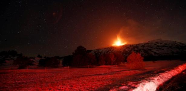 Erupção no Etna, na Sicília, não ameaça população, segundo autoridades