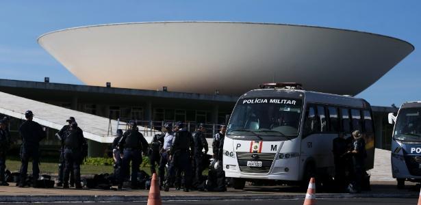 Acesso ao Congresso foi bloqueado para pessoas sem credencial - Marcelo Camargo/Agência Brasil