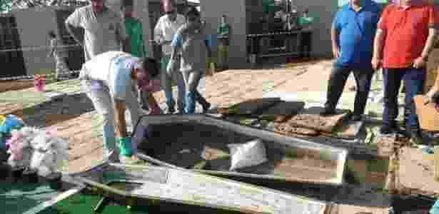 Exumação em São Carlos encontra um saco de serragem em vez de um corpo após suposto golpe - Divulgação/Milton Rogério/São Carlos Agora