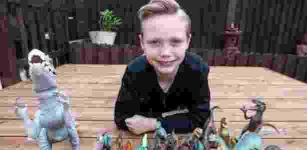 Charlie Edwards sonha em se tornar paleontólogo desde os três anos - Reprodução