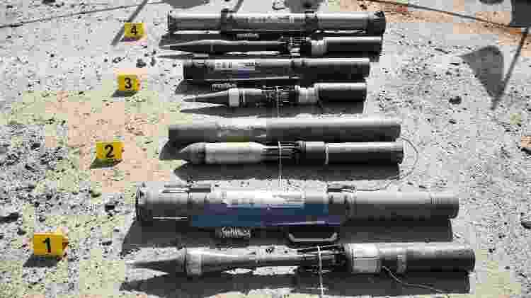 Lançadores de mísseis feitos pelo Estado Islâmico - DAMIEN SPLEETERS/NYT