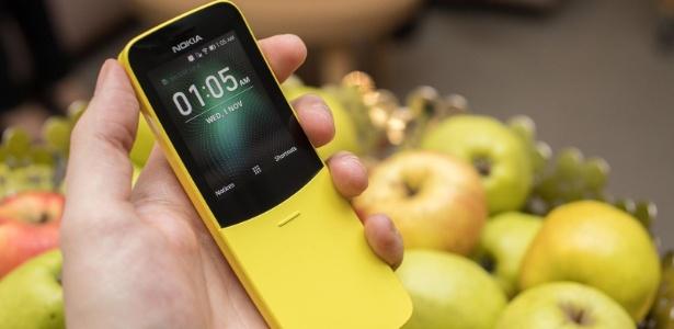 """Nokia 8110 deste ano vem nas cores amarelho """"banana"""" e preto"""