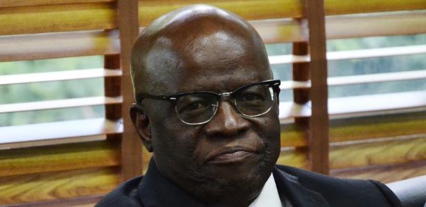 Joaquim Barbosa, ex-presidente do STF, durante reunião do PSB, partido ao qual se filiou - Renato Costa/Frame Photo/Estadão Conteúdo